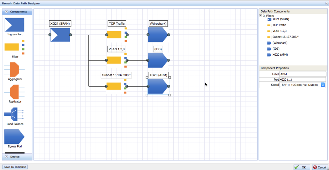 Configure the FlowDirector-640 with the Domain Data Path Designer